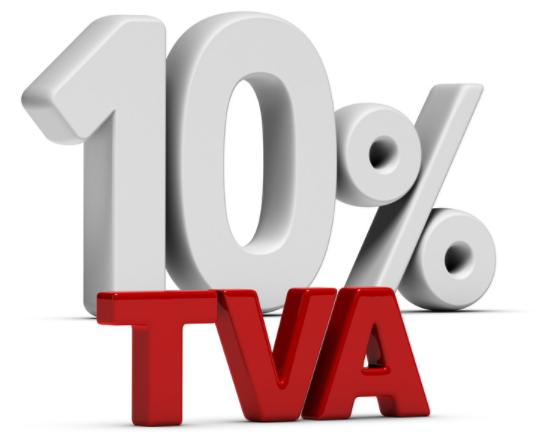 tva à 10%